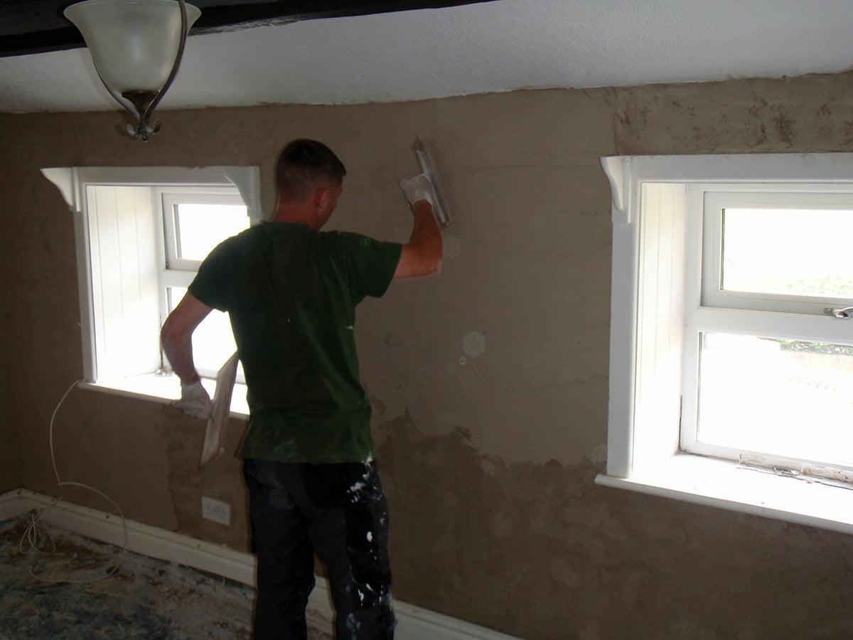 Lime plastering cottage foulridge 4