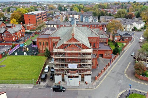 Ariel view of St Josephs Church Heywood