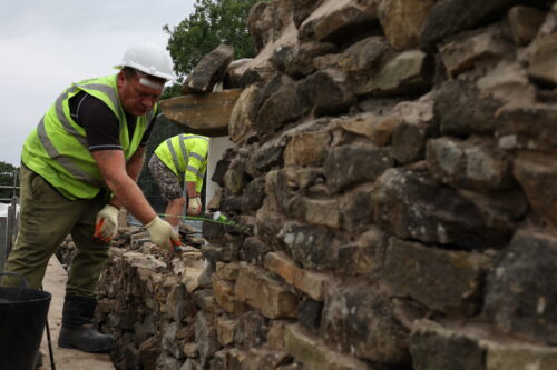 Restoring a Stone Wall, Foulridge